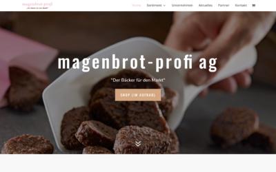 Neue Website der magenbrot-profi ag
